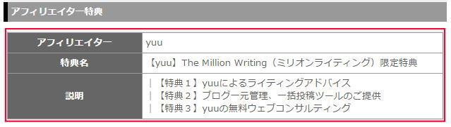 The Million Writing